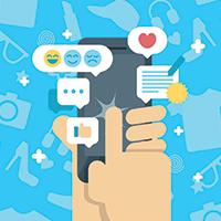 customer leaving feedback survey on smart phone