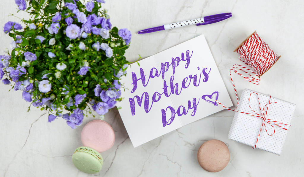 text banner that says Happy Mother's Day